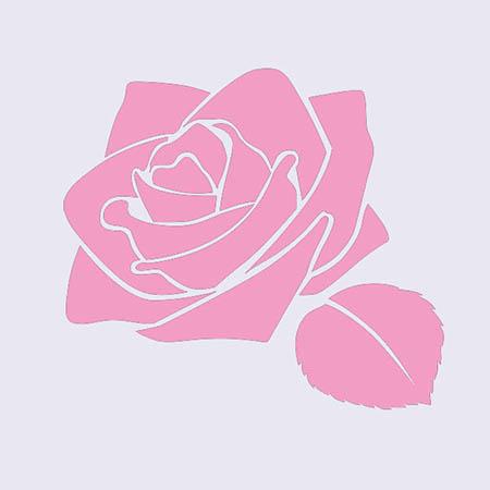 パステルアートの型紙 薔薇