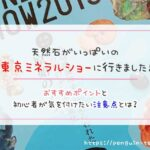 天然石がいっぱいの東京ミネラルショーに行きました!おすすめポイントと初心者が気を付けたい注意点とは?